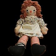 Vintage Original Johnny Gruelle's Raggedy Ann Cloth Doll