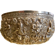 Gorgeous Embellished SIAM Silver Bowl
