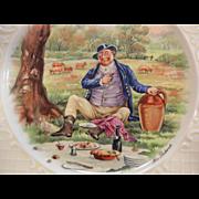 Vintage Wedgwood England Plate - Mr. Pickwick