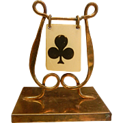 Vintage 1920's Brass Trump Marker Indicator - Playing Cards, Whist, Bridge