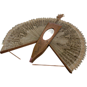 Vintage Wooden Hand Fan from Buenos Aires