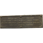 Original  IDVINTAGE 1966 NORTHERN PACIFIC RAILWAY ID TRAIN PLAQUE