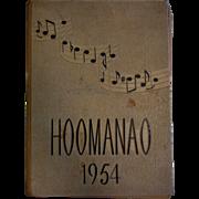 Vintage 1954 Yearbook Hoomanao Waialua High & Intermediate School
