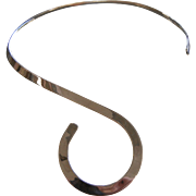 Fine Vintage Mexican Sterling Silver Neck Ring w/ Spiral Design