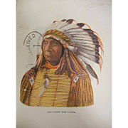 Vintage Embossed Postcard - Chief Red Cloud Native American Indian