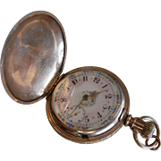 Early American Waltham Pocket Watch w/ Hunter's Case & Fancy Dial - Size 18