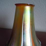 Top Of The Line Golden Iridescent Art Glass Lamp Shade