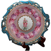 Stunning Antique Victorian Lady Cake Plate