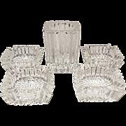 SALE Save 20% - Vintage Heisey Ridgeleigh Five Piece Smoke Set - Elegant Glass Depression Era