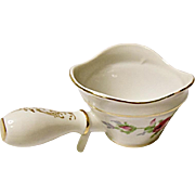 Vintage Mid-Century Norcrest China Company Dresden Rose Porcelain Open Butter Sauce - Handled