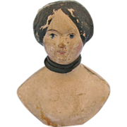 Antique Milliners Model Papier Mache Doll Head