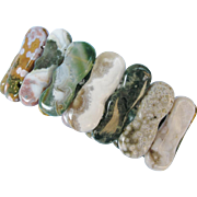 Multi-Colored Polished Stone Stretch Bracelet
