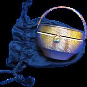 Vintage KIGU Bouquet Basket Powder Compact