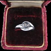 Vintage Sterling Silver Snake Pinky Pinkie Ring
