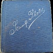 Small Edwardian Stamp Photos Album