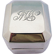 Early Birks Sterling Silver Ring Box MW Monogram