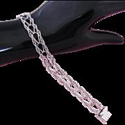 Vintage Charm Bracelet Sterling Silver Starter