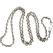 "SALE Vintage Solid 925 Sterling Silver 28"" Link Chain Necklace"
