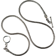 Solid Foxtail Wheat Chain 925 Bali Sterling Silver Chain Necklace