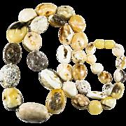 SALE Natural Egg Yolk Baltic Amber Polished Nugget Necklace
