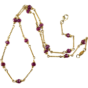 Genuine 5.75ctw Ruby Necklace 14k Gold Chain