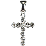 .75ctw Diamond Cross Pendant 14k Gold