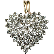 1.44ctw Natural Diamond Heart Pendant 10k Gold ADL