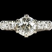SALE Old European Cut Diamond Engagement Ring Platinum 14k Gold Diamond Ring Wedding Ring