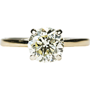 SALE 1.15ctw VVS1 Natural Yellow Solitaire Diamond Ring 14k Gold Wedding Engagement Ring