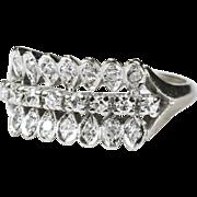 Art Deco .66ctw Diamond Ring 14k Gold Stacking Wedding Band
