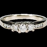 Past Present Future .50ctw Diamond Ring 14k Gold Wedding Engagement Ring