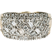2ctw Sparkly Snowflake Diamond Ring 14k Gold Diamond Band
