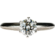 Tiffany Solitaire Diamond Ring Platinum Engagement Ring