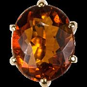 Natural Maderia Citrine 14k Rose Gold Victorian Stick Pin Hat Pin