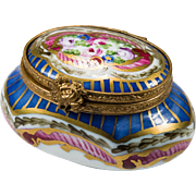 Sweet Limoges Hand Painted Trinket Box