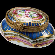 Sweet Limoges Hand Painted Trinket Box