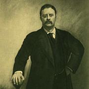 SOLD Antique 1907 President Portrait 'Theodore Roosevelt' - Historical Art Print