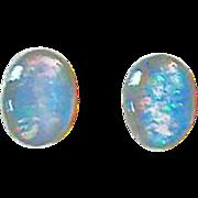 SALE PENDING Exquisite German Fire Opal Glass Earrings, RARE 1940's German Opal Glass Beads