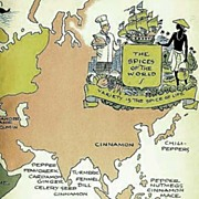 SOLD 1964 w/ DJ `The Spice Cookbook' Lithograph Illustrations / Vintage - International & Amer