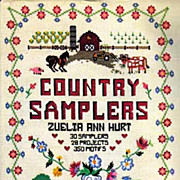 1984 Country Samplers w/ DJ Crafts, Needle Art - Photographs, Embroidery, Vintage