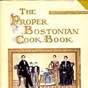 SOLD SIGNED 1st Ed 'The Proper Bostonian Cook Book' w/ DJ - Helene Sherman Illustrations / SCA
