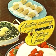 SCARCE 1950's 'Montgomery Cottage Cheese' Cookbook - Illustrated / Advertising / Dairy / Vinta