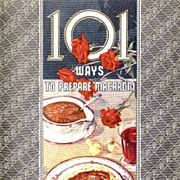SOLD 1942 'La Rosa' Advertising Cookbook , Lithograph Illustrations, 101 Ways To Prepare Macar