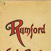 """SOLD SCARCE 1920's Fannie Farmer """"Rumford Cook Book """"Cover ILLUSTRATIONS Advertising"""