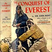 SOLD RARE 1954 1st Ed The Conquest of Everest w/ DJ 'Sir John Hunt' - Sir Edmond Hillary / Mou