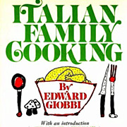 SALE 1971 Edward Giobbi 'Italian Family Cooking' RARE 1st Ed,1st Printing, Children's Illustra