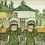 Kate Greenaway, A Mother Goose Treasury, DJ, 1970's,  Art, Poetry, Nursery Rhymes, SCARCE