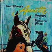 Walt Disney ANNETTE 'Mystery at Medicine Wheel' 1964 1st Ed - Annette Funicello, Mousketeer, .