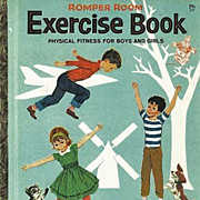 "1964 Little Golden Book 'Romper Room' Exercise Book - First Edition, ""A"" First P"