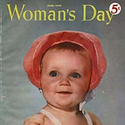 SOLD June 1949 Woman's Day Magazine. Advertising, American Quilts, Home Décor, Baby Cover